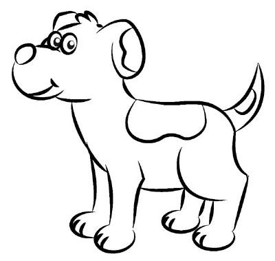 Brinquedoteca brincar e aprender aprenda a desenhar um - Dessin chien simple ...