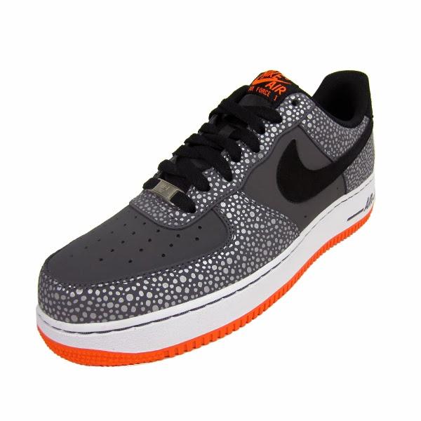quality design 85677 c6ca2 Nike Air Force 1 Safari. Dark Grey, Black, Total Orange. 488298-079