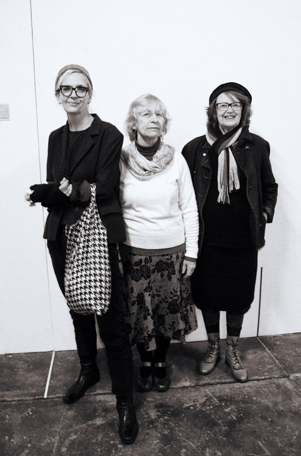 Group Portrait, Factory 49 - the artists who hung the show. Mel, Pam & Marlene.