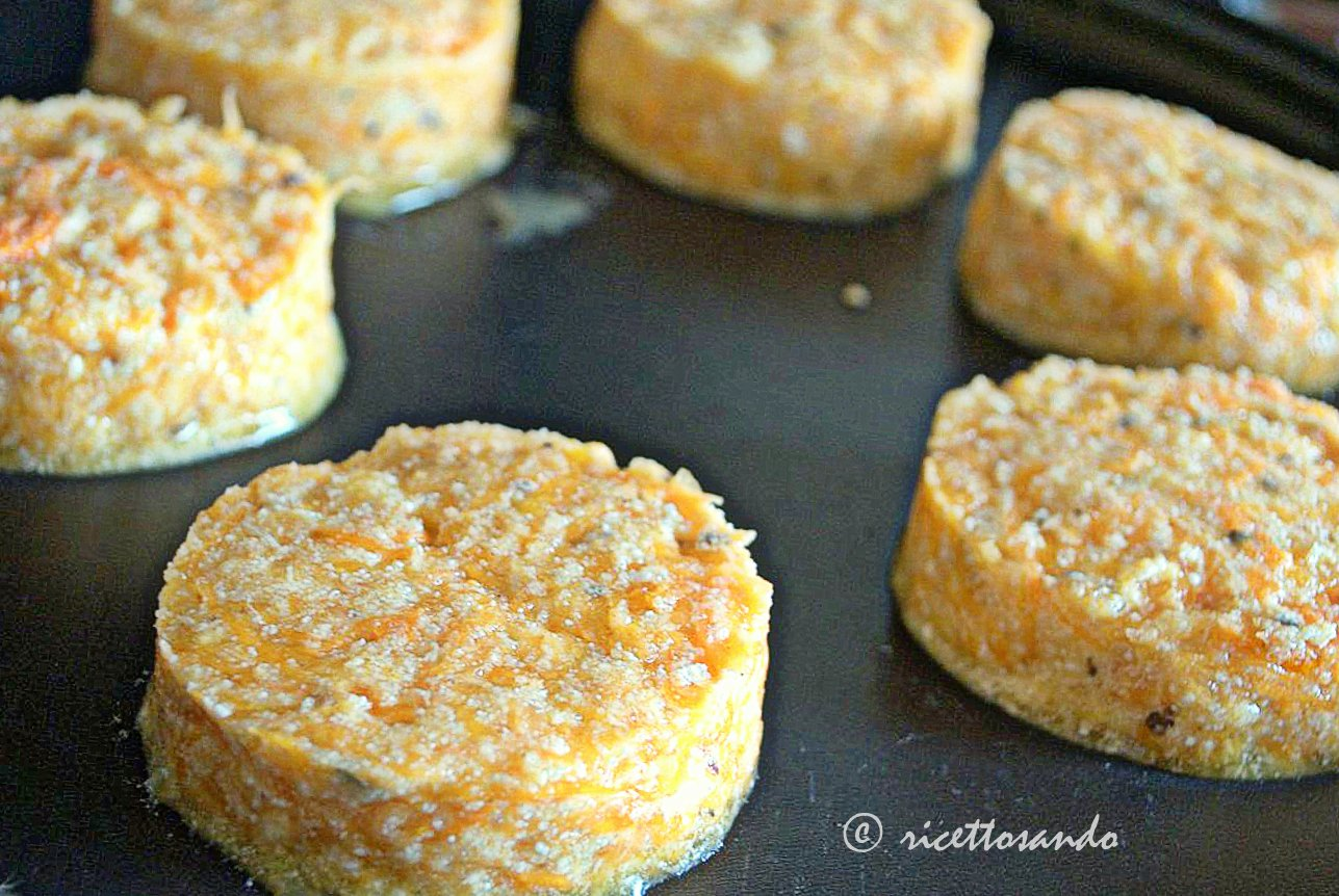 Minicake salati di zucca