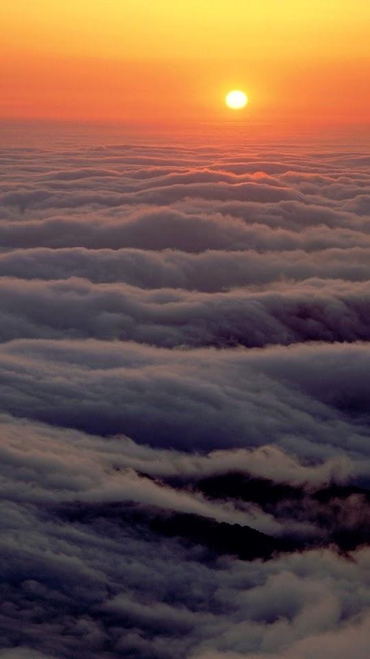 Cloud Waves Sunset  Galaxy Note HD Wallpaper