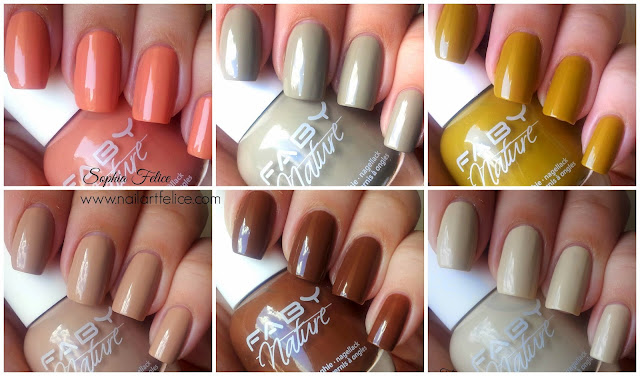 swatches smalti faby nature