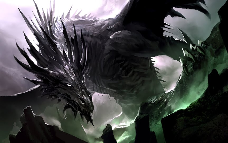 Dragon pictures black and white