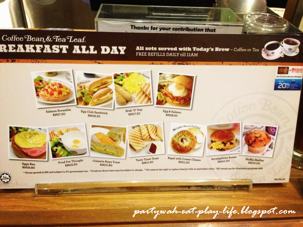 Cbtl S All Day Long Breakfast Is To Be Served With A Cup Of Coffee Or Tea Which We Can Refill It As Many Times Like