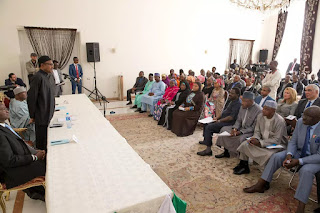 President Buhari in a meeting with Nigerian community in Tehran