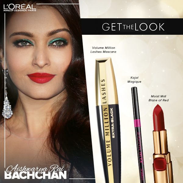 Aishwarya Rai makeup look for the afmar gala at Cannes 2014