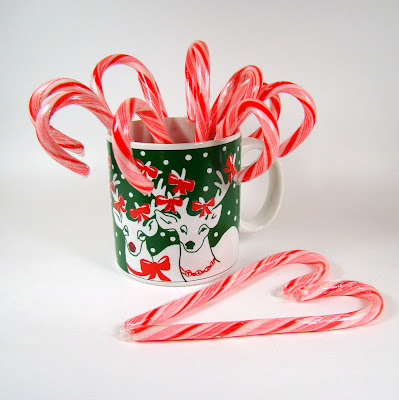 I Love This Mug Happy Reindeer With Bows On Their Antlers Are Just The Best And A Great Place To Stash Your Candy Canes You Know Who