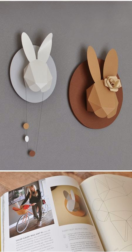 animales de papel diy para decorar pared