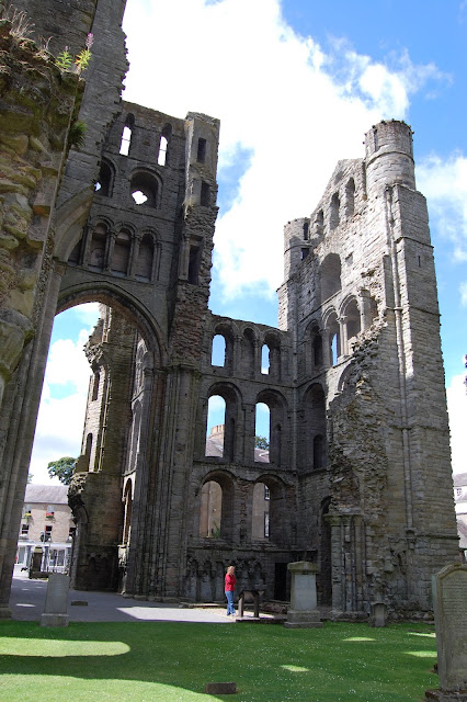 Ruins of Kelso Abbey's entrance towers