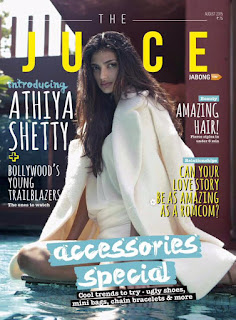 Athiya Shetty looks adoringly Spicy and beautiful on the cover page of The Juice Magazine India August 2015 Issue