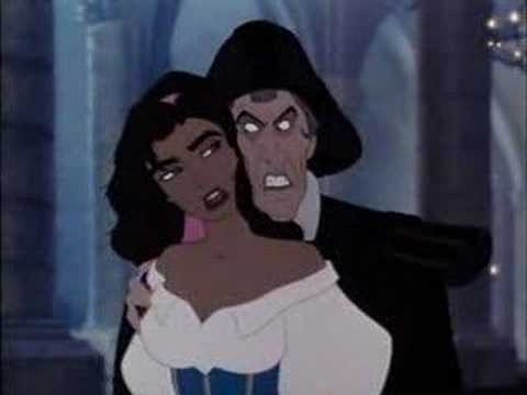 Frollo grabbing Esmeralda The Hunchback of Notre Dame 1996 animatedfilmreviews.blogspot.com
