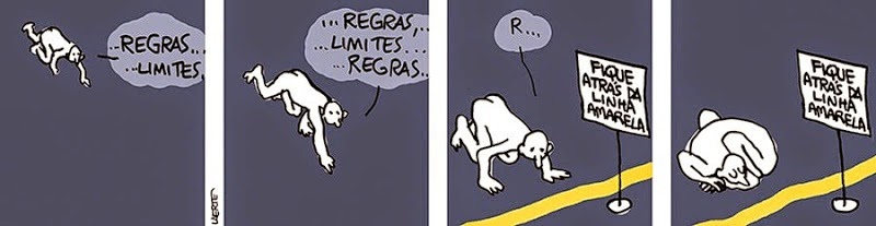 Laerte: stay behind the yellow line.