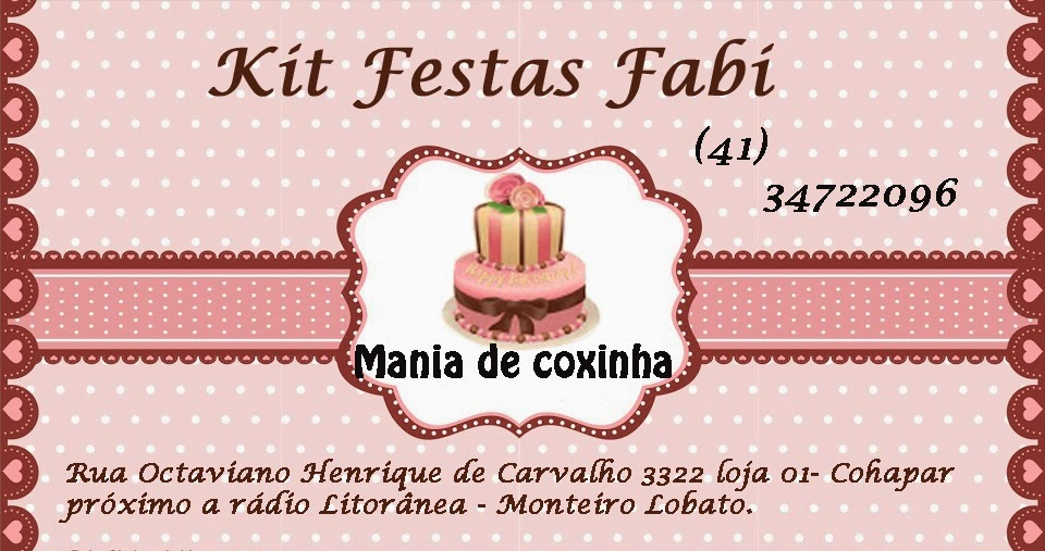 KIT FESTAS FABI- Guaratuba - Pr      (41) 34722096