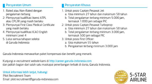 Lowongan Kerja BUMN Terbaru PT Garuda Indonesia (Persero) Tbk