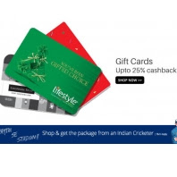 Buy Gift Cards Upto 25% Cashback :Buytoearn