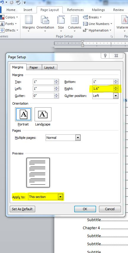 Office 2007 and 2010 errors solutions how to adjust for Table th margin
