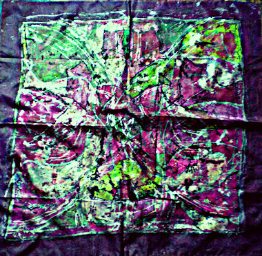 "Barbed roses (29"" X 29"") 04/11/2010"
