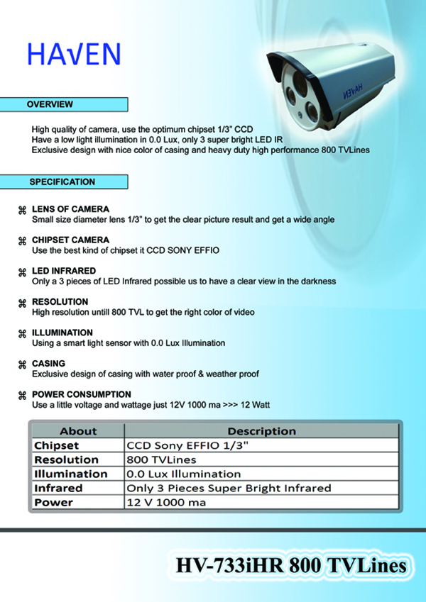 CCTV Haven HV-711i