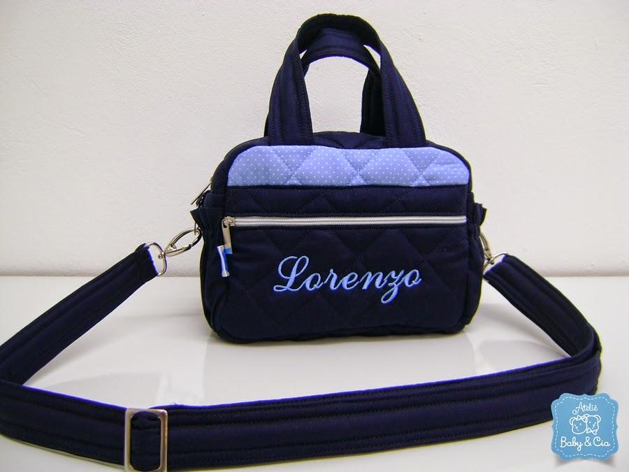 Bolsa De Festa Azul Marinho : Kit bolsas de beb p m g azul marinho