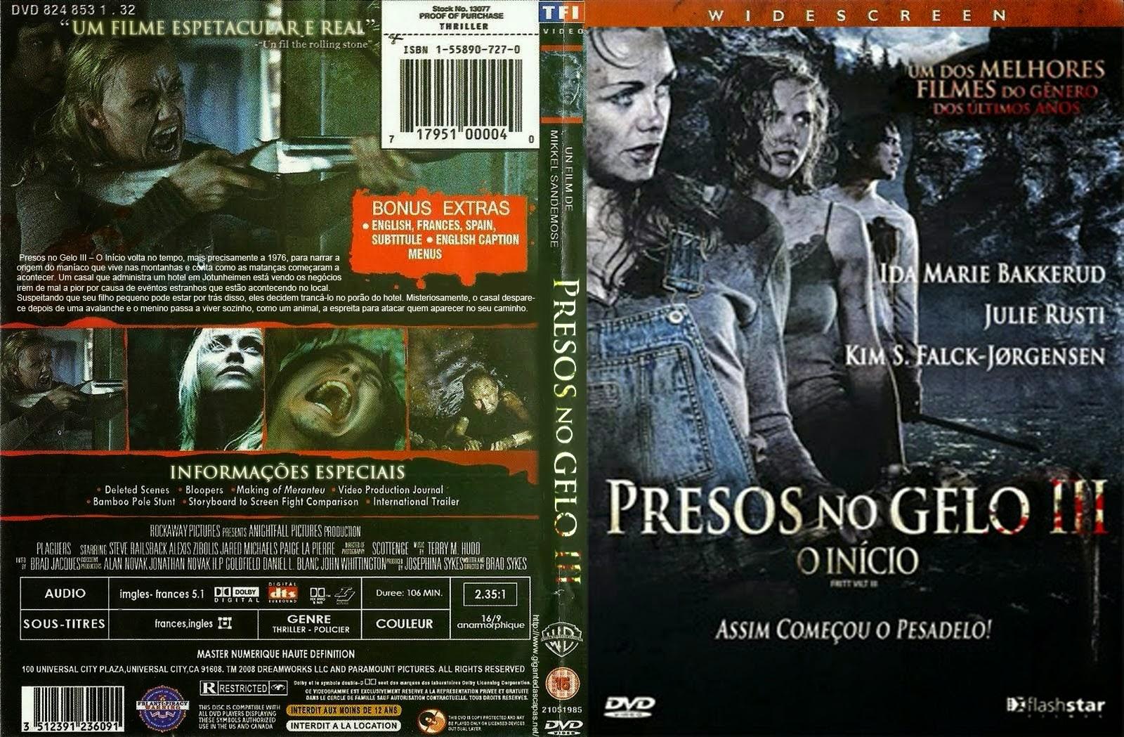 Filme Presos no Gelo 3 O Início DVD Capa