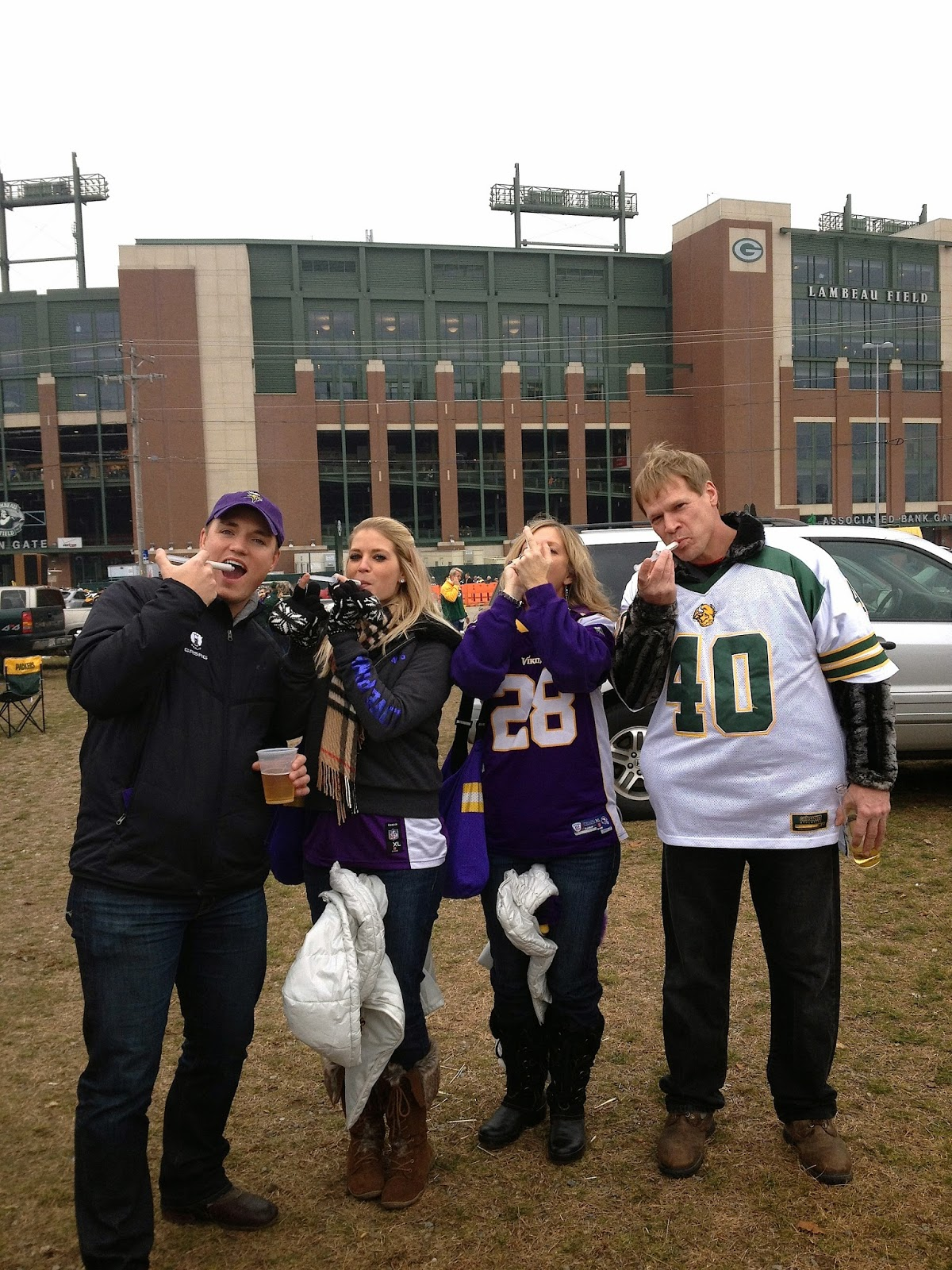 tailgating at Lambeau Field