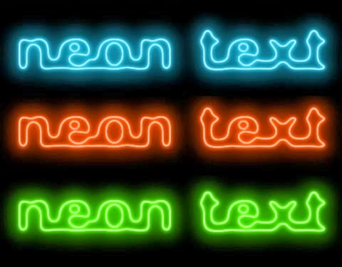 Cool glowing text in Photoshop