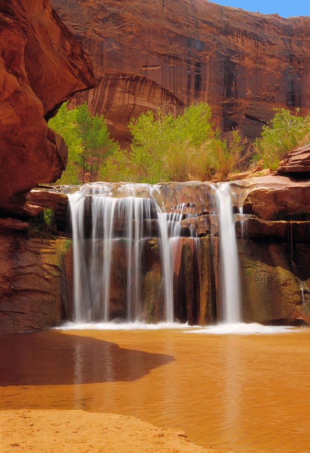 Waterfall In Coyote Gulch,Utah
