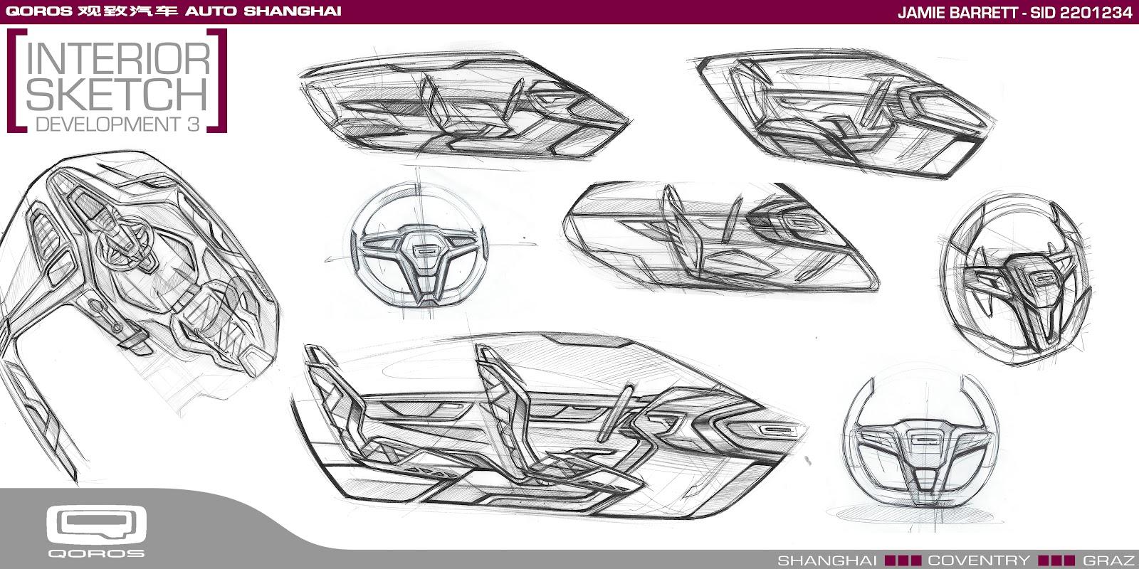 Sketchsite Barrett Qoros Auto Interior Sketch Development