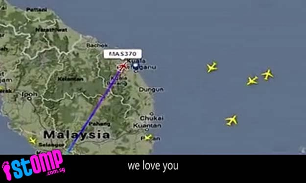 'MH370: We are waiting for you to come home'.