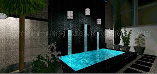 kolam mungil minimalis