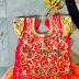 Peach Lehenga All Over Blouse