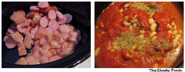 Chicken and Smoked Sausage Bean Soup #recipe #slowcooker #beans #chicken #sausage