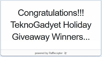 TeknoGadyet Holiday Giveaway Winners