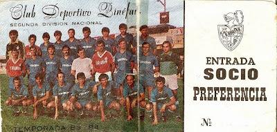 Club Deportivo Binéfar. Temporada 83-84