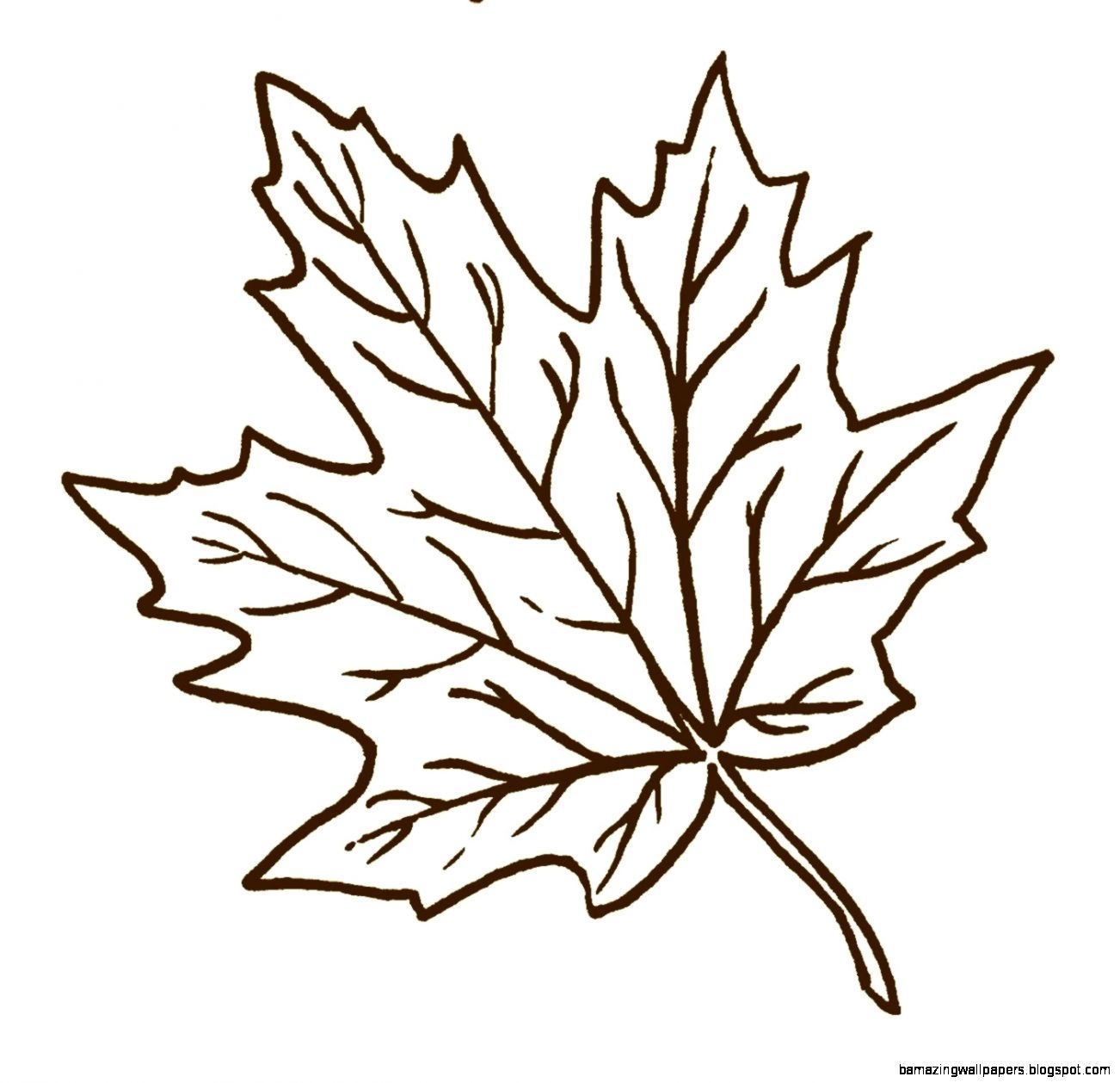 Autumn Leaves Clipart Black And White