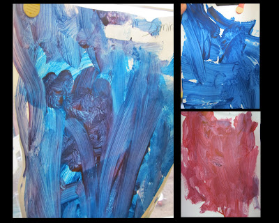 photo of: easel painting by young children