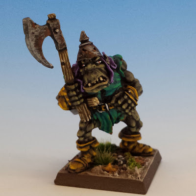 Giant Black Orc Axe 1, Citadel (sculpted by Bob Olley, 1990)