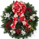 Color your holiday with Christmas wreath image2