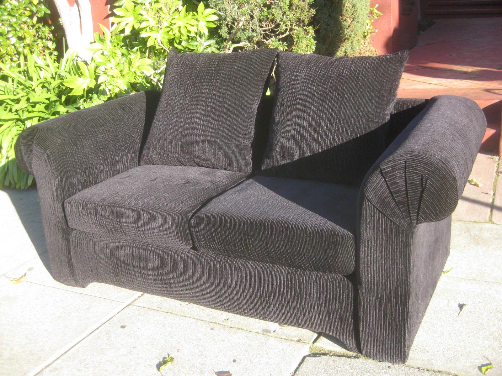 Uhuru Furniture Collectibles Sold Navy Blue Corduroy Loveseat 125