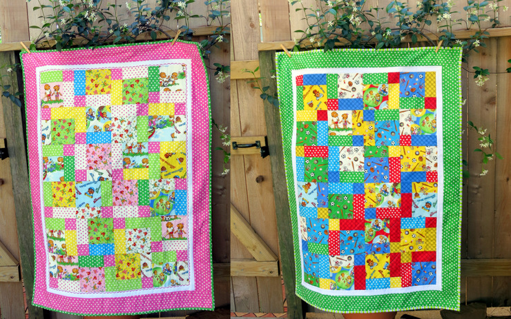 Berenstain Bears Disappearing Nine Patch Quilt Block Tutorial And