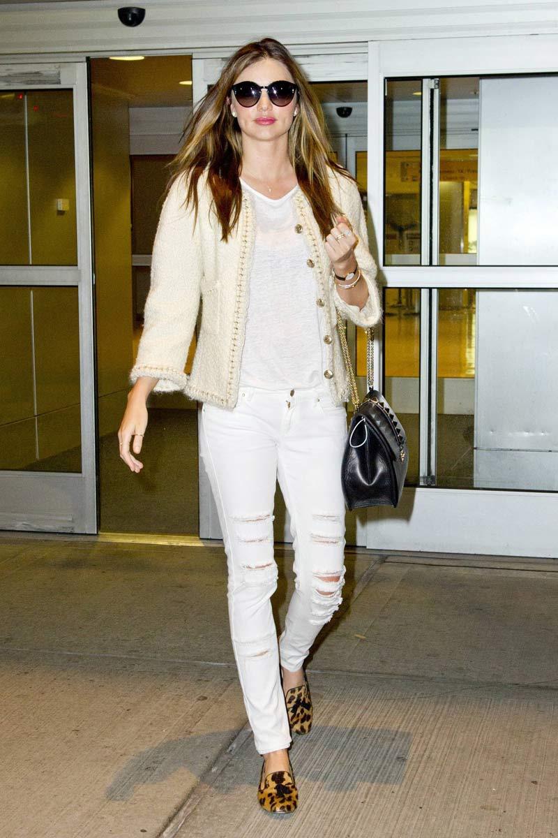 Miranda Kerr Ripped Jeans