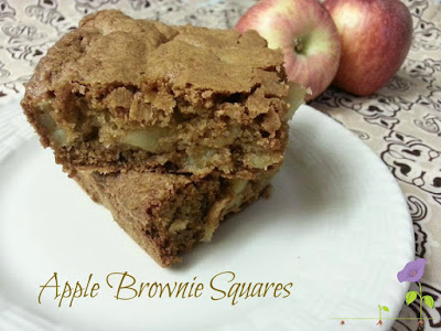 Apple Brownie Squares - #ConveyAwareness