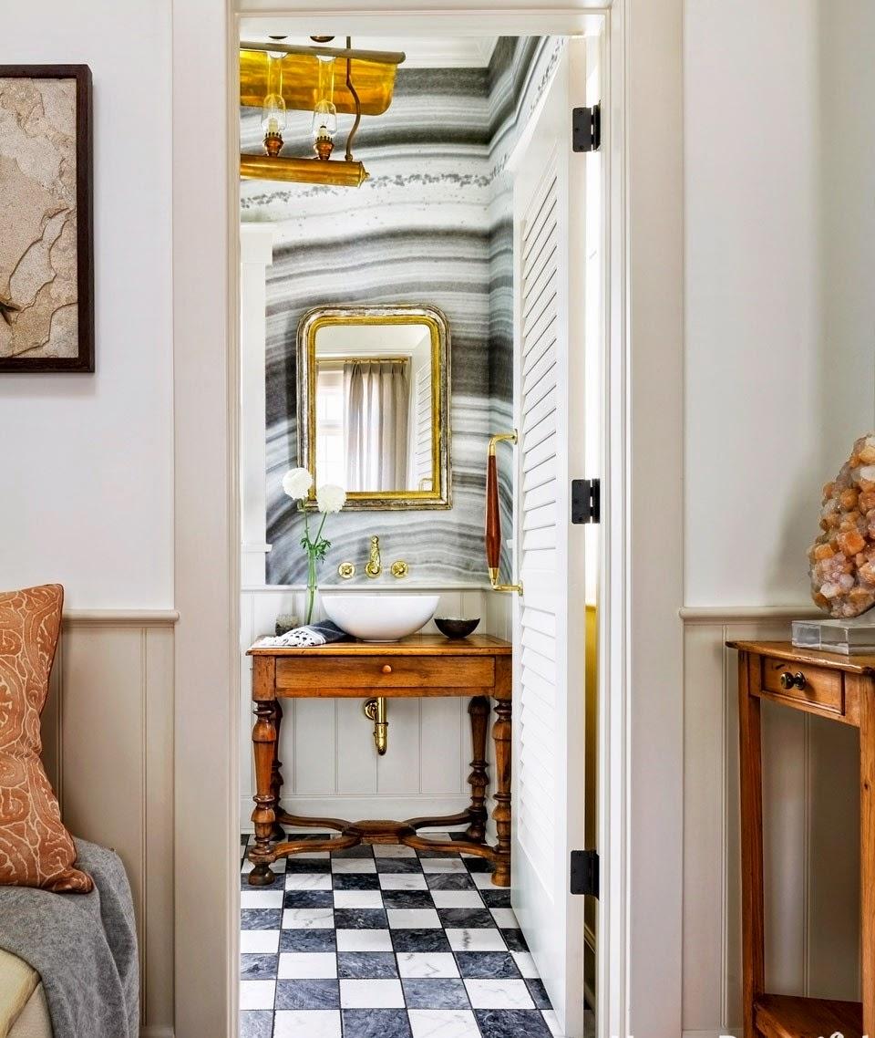 Ivonne sempr n cuarto de ba o con un maravilloso estilo atemporal - Cuarto de bano prefabricado ...