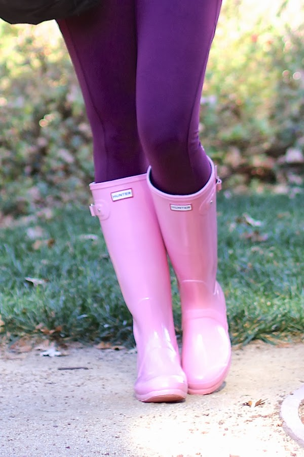hunter boots with lululemon leggings