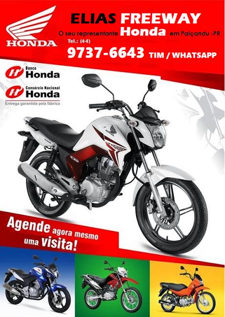Consórcio Honda em Paiçandu é com Elias Freewey - Clique na imagem e tenha mais informações.