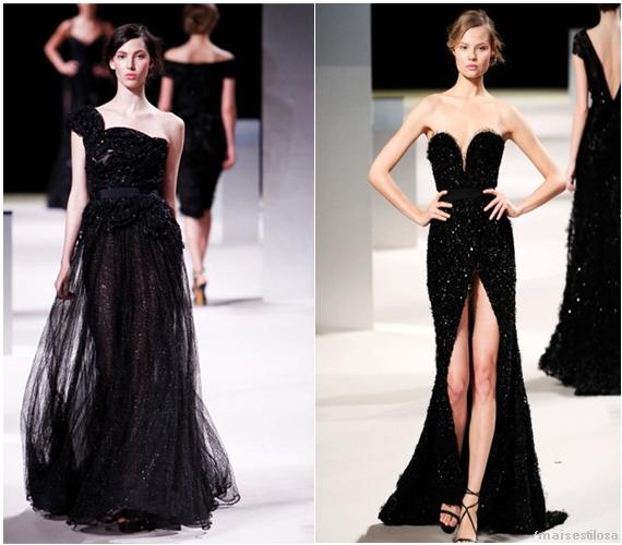 vestidos pretos longos para festa - formatura