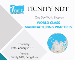 Work Shop on World Class Manufacturing Practices at Trinity NDT India on 07th Jan 2016