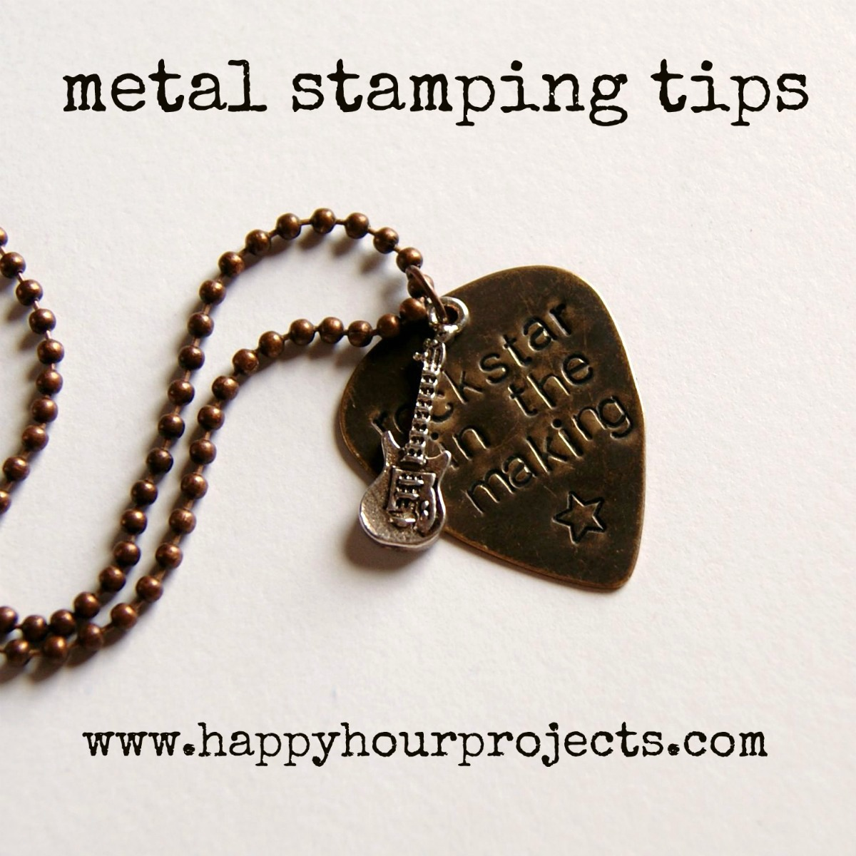 Jewelry stamping happy hour projects for How do you make hand stamped jewelry
