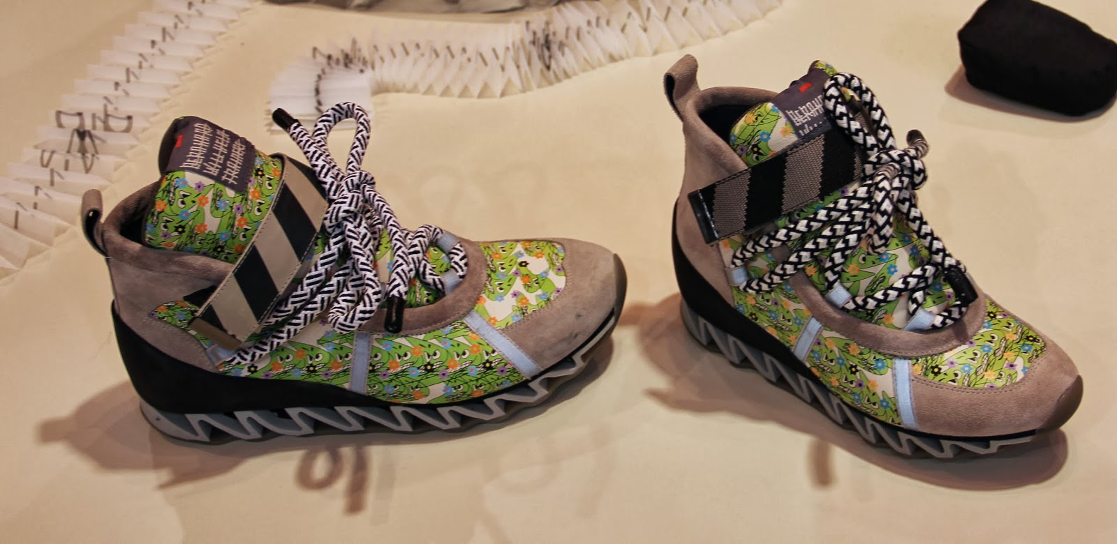 168de1d42548 For S S 2014 the series of unisex sneakers come in a variety of color and  print options...and a color block sandal with adjustable straps.