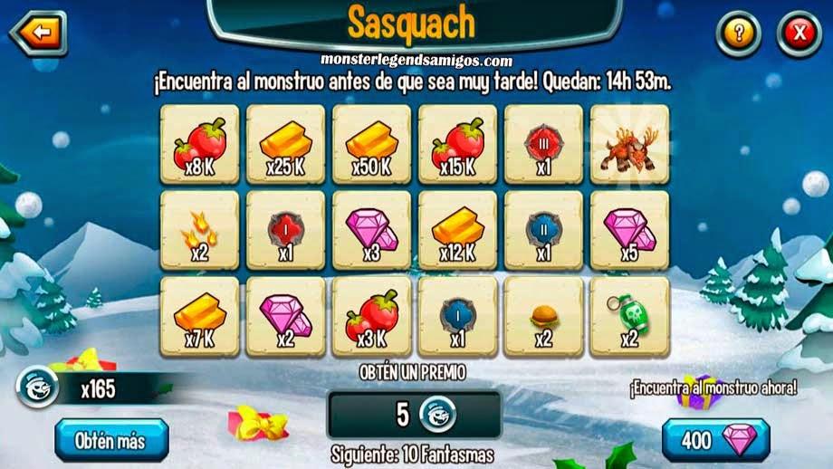 imagen de los premios de segunda guarida de la isla navidad de monster legends